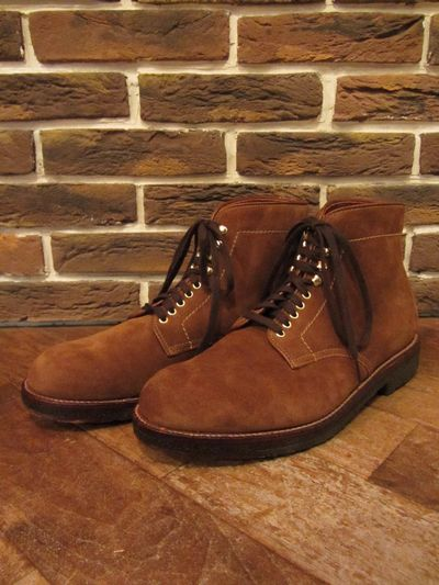 "ALDEN(オールデン)09187""PLAINTOE SUEDE BOOTS""(プレーントゥスウェードブーツ)"