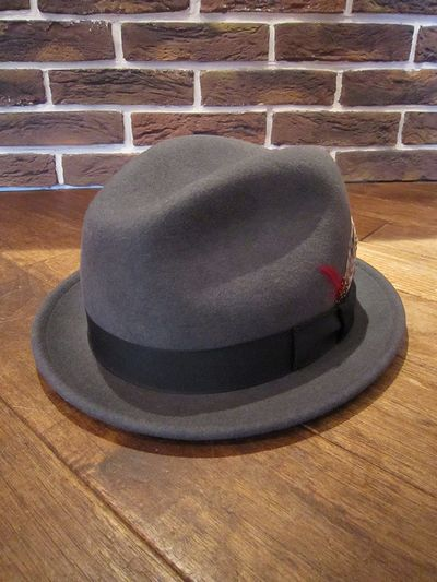 "NEW YORK HAT(ニューヨークハット) FEDORA HAT""PINCHED STINGY""(フェドラハット)"