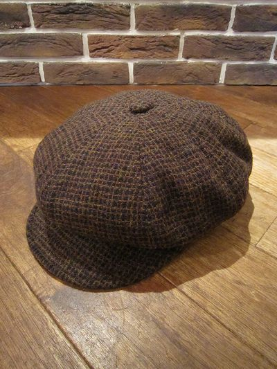 "NEW YORK HAT(ニューヨークハット)WOOL CASQUETTE""SQUARE SPITFIRE""(ウールキャスケット)"