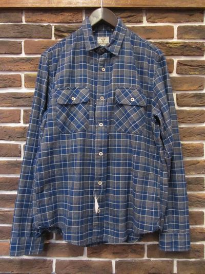 "LEVI'S VINTAGE CLOTHING(リーバイスビンテージクロージング)L/S CHECK SHIRTS"" MADE IN ITALY(""ショートホーンタグ""オンブレチェックシャツ)"