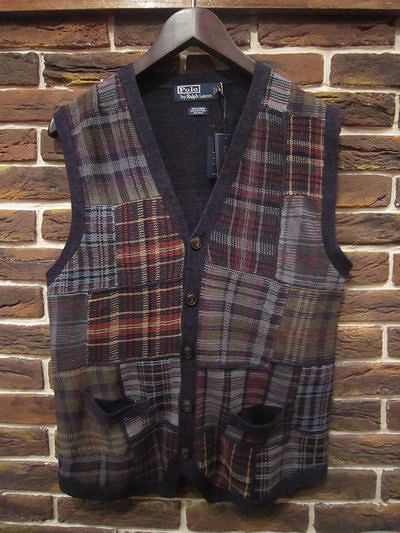 POLO BY RALPH LAUREN(ポロ ラルフローレン)PATCHWORK KNIT VEST(パッチワークベスト)