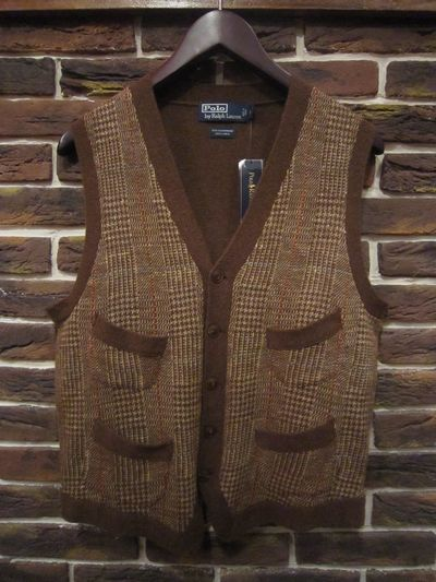 POLO BY RALPH LAUREN(ポロ ラルフローレン)CHECK KNIT VEST(チェックベスト)