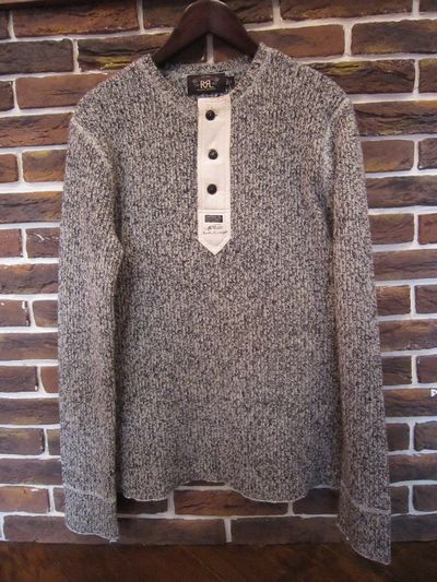 RRL(ダブルアールエル)L/S SALT&PEPPER HENLY NECK KNIT