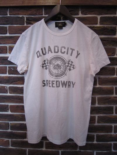 "RRL(ダブルアールエル) S/S ""QUADCITY SPEEDWAY"" TEE"
