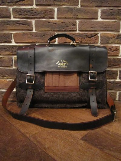 "RRL (ダブルアールエル)HARRIS TWEED BRIEFCASE ""MADE IN ITALY""(ハリスツイードブリーフケース)"