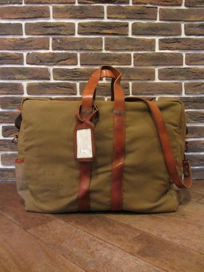 "RRL (ダブルアールエル)AVIATOR'S KIT BAG""MADE IN ITALY""(アビエーターキットバッグ)"