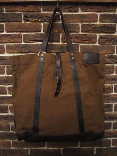 "RRL (ダブルアールエル)CANVAS×LEATHER TOTE BAG""MADE IN ITALY""(キャンバス×レザートートバッグ""MADE IN ITALY"")"