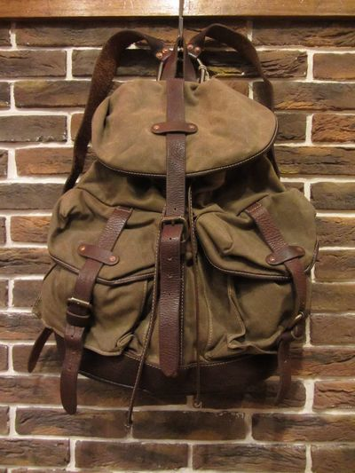 RRL (ダブルアールエル)CANVAS×LEATHER RUCK SACK(キャンバス×レザーバックパック)