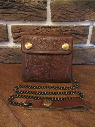 RRL (ダブルアールエル)CARVING LEATHER CHAIN WALLET(レザーチェーン財布)