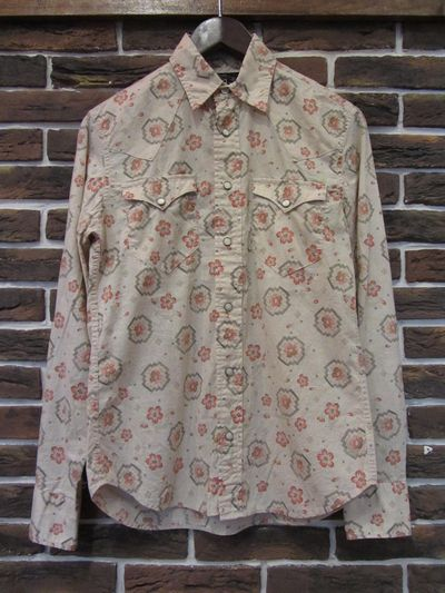 RRL WOMENS(ダブルアールエル,ウーマン)L/S FLORAL WESTERN SHIRTS(花柄ウエスタンシャツ)