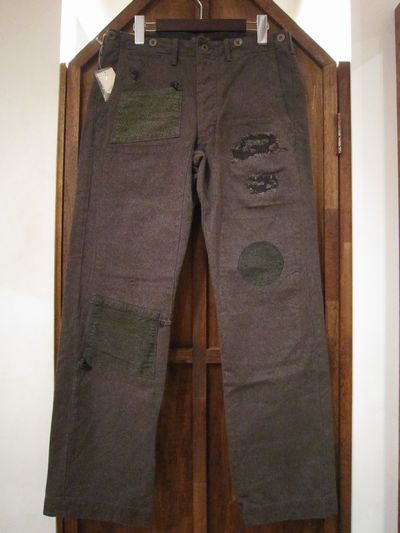 RRL (ダブルアールエル)HEATHER FABRIC WORK TROUSER REPAIR&CUSTOM(ワークトラウザー)