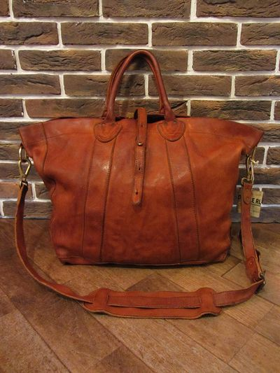 "RRL (ダブルアールエル)ALL LEATHER 2WAY BAG ""MADE IN ITALY""(オールレザー2WAYバッグ)"