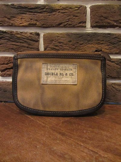 RRL (ダブルアールエル)CANVAS×LEATHER POUCH(キャンバス×レザーポーチ)
