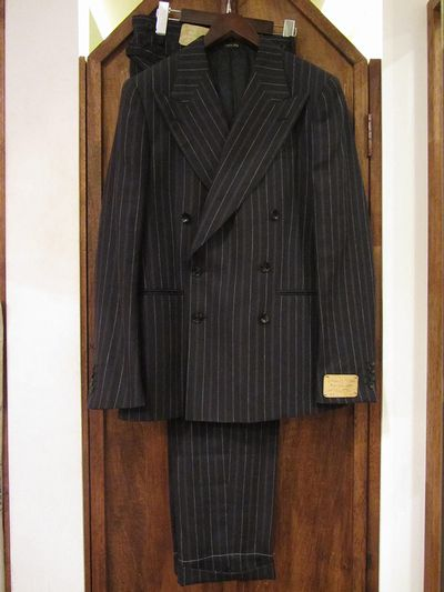 "RRL(ダブルアールエル)DOUBLE SUIT""MADE IN ITALY""(ストライプダブルツーピーススーツ)"