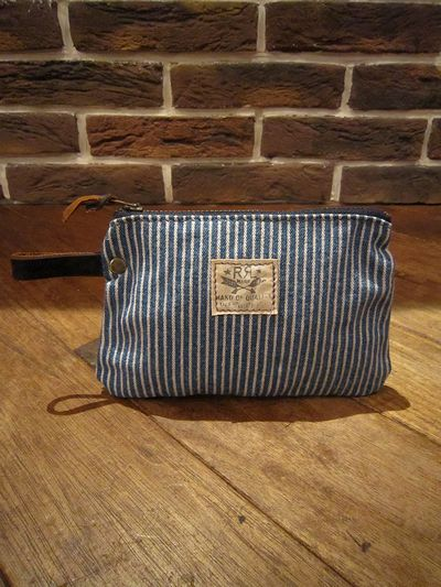 RRL(ダブルアールエル) HICKORY STRIPE POUCH