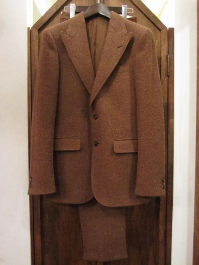 "RRL (ダブルアールエル)HARRIS TWEED SUIT VINTAGE BRICK""MADE IN ITALY""(ハリスツイードスーツ)"