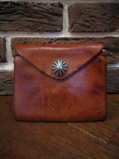 RRL(ダブルアールエル)LEATHER CONCHO WALLET(レザーコンチョ財布)