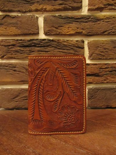 RRL (ダブルアールエル)TOOLED LEATHER CARD WALLET(カービングレザーカードウォレット)