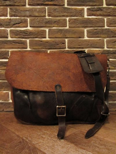 "RRL (ダブルアールエル)LEATHER MAIL BAG""MADE IN ITALY""(レザーメールバッグ)"