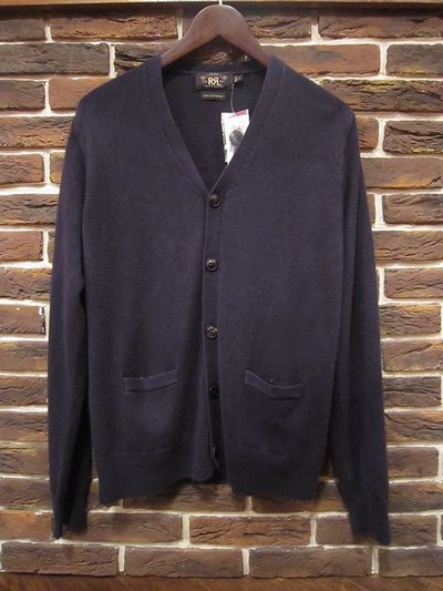 RRL(ダブルアールエル)KNIT CARDIGAN 100%CASHMERE MADE IN ITALY(ニットカーディガン)