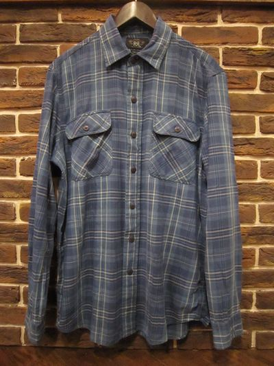 RRL(ダブルアールエル)L/S WRIGHT FLANNEL SHIRTS