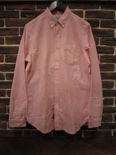 RRL(ダブルアールエル)L/S B.D OXFORD SHIRTS WITH SELVEDGE(耳付きオックスフォードシャツ ピンク)