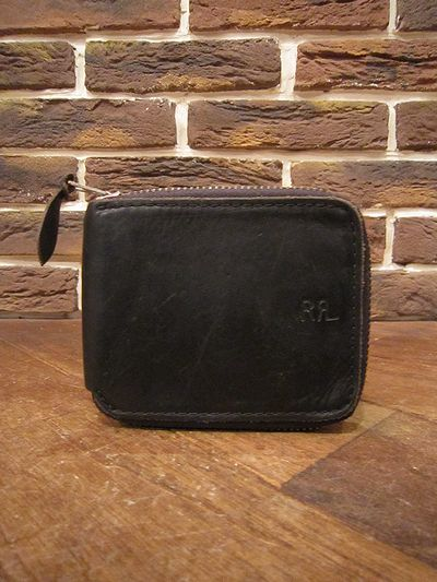 RRL(ダブルアールエル)LEATHER ZIP WALLET(レザー財布)