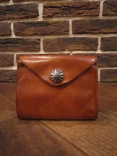 RRL (ダブルアールエル)LEATHER CONCHO WALLET(レザーコンチョ財布)