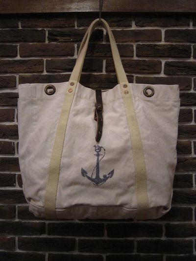 "RRL (ダブルアールエル)CANVAS TOTE BAG""MADE IN ITALY""(キャンバストートバッグ)"