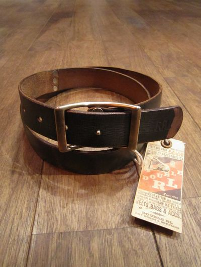 "RRL(ダブルアールエル)LIMITED EDITION LEATHER BELT ""78 OF 308 """