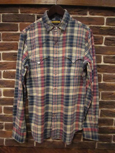 RUGBY(ラグビー)  L/S FLANNEL WESTERN SHIRTS