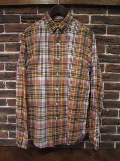 RUGBY(ラグビー)  L/S MADRAS CHECK SHIRTS