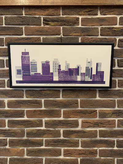 HATCH SHOW PRINT NASHVILLE SKYLINE POSTER MADE IN USA