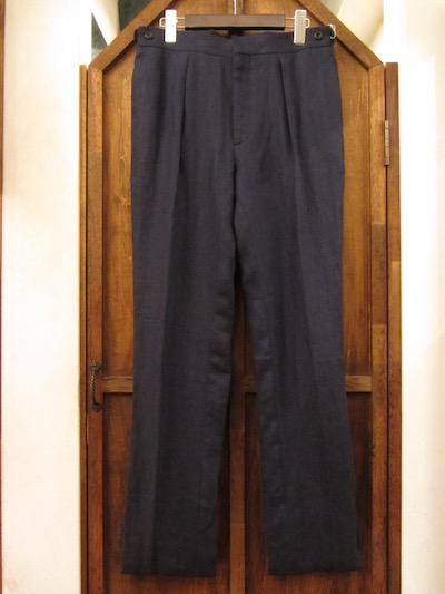 "POLO RALPH LAUREN(ラルフローレン)100%LINEN HERRINGBONE TROUSER""MADE IN ITALY""(ヘリンボーントラウザー)"