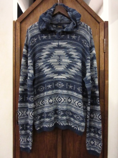 POLO RALPH LAUREN(ラルフローレン)NATIVE KNIT HOODIE (ネイティブニットパーカー)