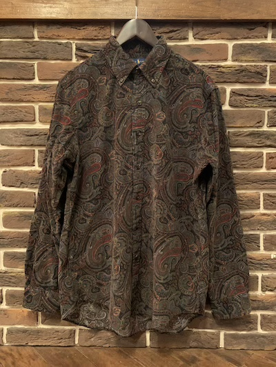 "POLO RALPH LAUREN(ラルフローレン)PRINT CORDUROY PAISLEY SHIRTS""CLASSIC FIT""(プリントコーデュロイペイズリーシャツ)"