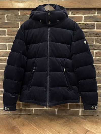 "POLO RALPH LAUREN(ラルフローレン)CORDUROY DOWN JACKET NAVY ""Powered by RLX"""