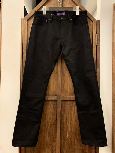 "POLO RALPH LAUREN(ラルフローレン)""PURPLE SELVEDGE""BLACK JEANS""MADE IN ITALY""(""紫耳""ブラックジーンズ)"