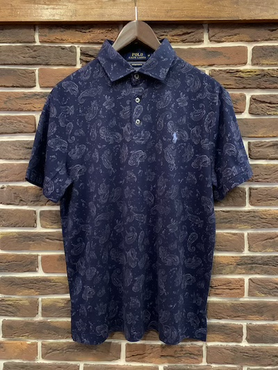 POLO RALPH LAUREN(ラルフローレン)PAISLEY KNIT POLO SHIRTS(ペイズリーニットポロシャツ)