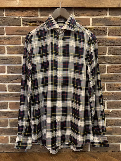 "POLO RALPH LAUREN(ラルフローレン)TARTAN CHECK SPREAD COLLAR SHIRTS""MADE IN ITALY""(タータンチェックシャツ)"