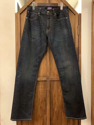 "POLO RALPH LAUREN(ラルフローレン)5P BLUE JEANS""MADE IN ITALY""(""紫耳""ストレッチ混ストレートジーンズ)"