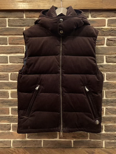 "POLO RALPH LAUREN(ラルフローレン)CORDUROY DOWN VEST DARK BROWN ""Powered by RLX"""