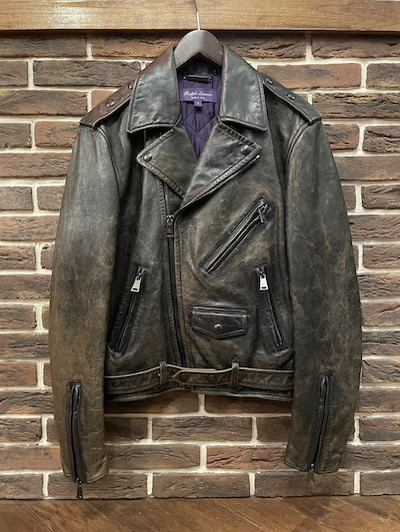 "POLO RALPH LAUREN(ラルフローレン)LEATHER MOTO JACKET""MADE IN ITALY"" #1 SMALL"