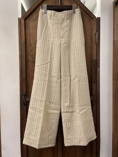 "POLO RALPH LAUREN(ラルフローレン)""WOMEN'S"" STRIPE WIDE TROUSER"