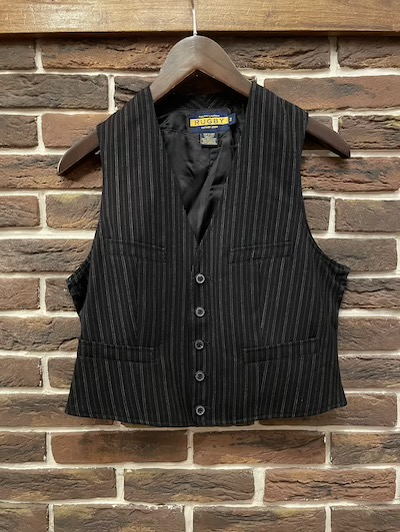 "POLO RALPH LAUREN(ラルフローレン)STRIPE VEST""WOMEN'S"""