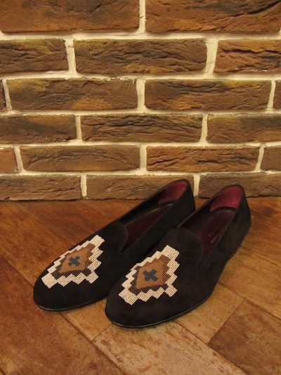 "POLO RALPH LAUREN(ラルフローレン)COLLIS SUEDE SLIP-ON""NATIVE BEADS"" MADE IN ITALY(レザースリッポン)"