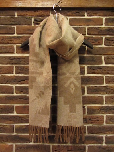 "POLO RALPH LAUREN(ラルフローレン)NATIVE KNIT SCARF""MADE IN ITALY""(ネイティブ柄マフラー)"
