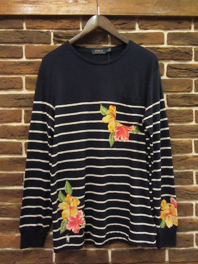 POLO RALPH LAUREN(ラルフローレン)FRENCH NAVY MARINE STRIPE L/S TEE SHIRTS(マリンストライプロンTEE)