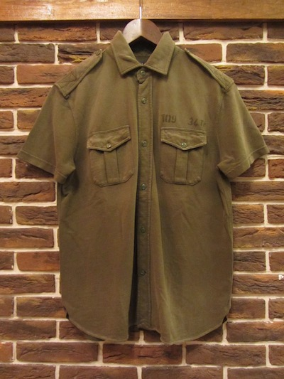 POLO RALPH LAUREN(ラルフローレン)GARMENT DYED S/S MILITARY SHIRTS(ミリタリー半袖シャツ)