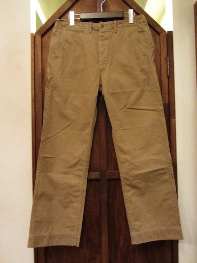 "RRL (ダブルアールエル)REGULATION CHINO TROUSER""NEW MILITARY KAHKI"